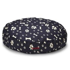 SNOOZA SHAPES ROUND DOG BED - NAVY PAWS'N'BONES