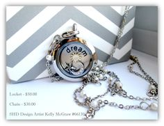 Jewelry, Sun, Moon and Stars, South Hill Designs by Kelly McGraw #66130   Medium silver locket with sun, moon and stars charms and dream medium coin.  Free shipping, please allow 3-7 business days for delivery.  No deliveries outside U.S.   $80.00