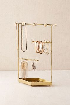 Urban Outfitters Crystal Jewelry Organizer - Annaka, Jessica, and Sarah's apartment - Jewelry Stand, Jewelry Holder, Jewelry Box, Vintage Jewelry, Jewelry Accessories, Jewlery, Necklace Holder, Jewelry Organizer Stand, Wooden Jewelry