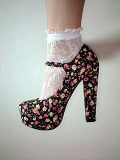 The heels and the socks! Floral prints and lace are the best.