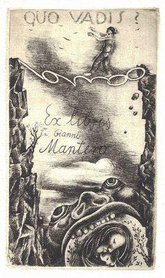 Bookplates by Michel Fingesten (1884–1943) for Gianni Mantero