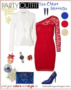 pretty Holiday party outfit idea for Clear Springs