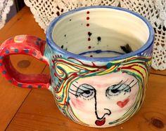 Girl Mug #3 - by Suzi Dennis