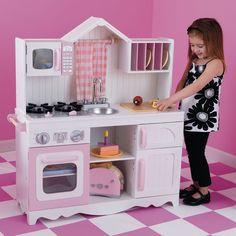 Compra aquí la cocina de juguete Campo Moderno de Kidkraft para juegos de niños y niñas. Perfecta para decorar habitaciones de niñas. Gran calidad y detalles..