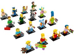 Collect every mystery minifigure in the iconic The Simpsons™ Series! i need these!!!!!!!!!