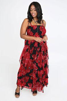 Grecian bandeau maxi dress