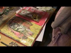Art Journaling With Carved Stamps Mixed Media Style Part 6 with Milliande (video)