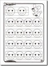 Preescritura: fichas de para niños de 4 años
