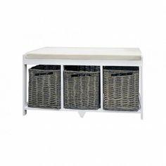Modern Storage Bench Organizer Furniture Shoes Rack Wood Baskets Cushion Cabinet #ModernStorageBench #Modern