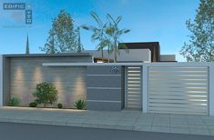Our Top 10 Modern house designs – Modern Home House Fence Design, Modern Fence Design, Modern House Design, Modern Exterior, Exterior Design, Exterior Colors, Boundry Wall, Compound Wall Design, Tor Design