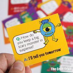 Printable monster jokes Jokes, School, Crafts, Manualidades, Husky Jokes, Memes, Handmade Crafts, Craft, Arts And Crafts