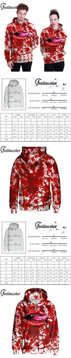 Feelincolor 3d Sweatshirt Autumn Winter Hoody Blood Ties Hoodies Men/Women Hooded Lovers moletom wiht Hat
