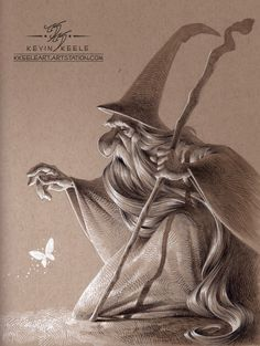 ArtStation - Wizards Like Moths, Kevin Keele Cartoon Drawings, Drawing Sketches, Art Drawings, Sketching, Character Illustration, Illustration Art, The Big Theory, Caricature Drawing, Toned Paper