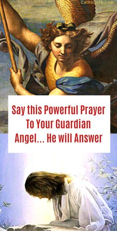 Say this Powerful Prayer To Your Guardian Angel… He will Answer Prayer Signs, Prayer Verses, God Prayer, Power Of Prayer, Novena Prayers, Angel Prayers, Catholic Prayers, Catholic Readings, Daily Morning Prayer