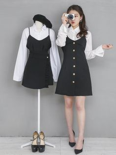 Twin Outfits, Cool Outfits, Fashion Outfits, Womens Fashion, Korea Fashion, Asian Fashion, Matching Outfits Best Friend, Friends Fashion, Ulzzang Fashion