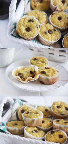 Chocolate Chip Zucchini Muffins (fluffy, moist, gluten-free, dairy-free, paleo)