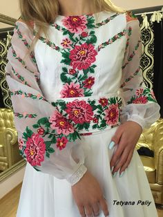 "Сукня  ""Тіна"" - 14900 грн Folk Fashion, Womens Fashion, Embroidered Clothes, Filet Crochet, Floral Tops, Bell Sleeve Top, Abayas, Embroidery, Clothes For Women"