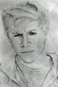 Niall Horan - One Direction (: One Direction Merch, One Direction Drawings, Cartoon Drawings, Pencil Drawings, Art Drawings, Niall Horan, Traditional Art, Famous People, Artsy