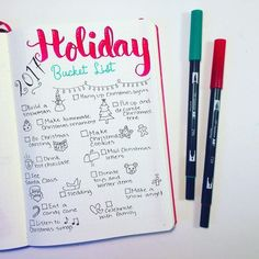 Perfect collection layout to try in your bullet journal for Christmas! This bujo holiday bucket list is a lovely place to track and organize everything you want to do for the season! Use the ideas I provided or do your own setup, this is a super fun spread to spice up Christmas. Find inspiration for the upcoming holiday!!!