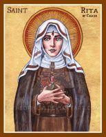 St. Rita of Cascia icon by Theophilia