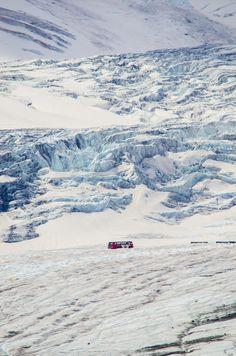 Columbia Ice fields, between Banff National Park and Jasper National Park, AB (by Anura Fernando)