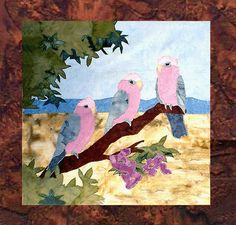 Parrots of Paradise - B1 - Galahs in the Treetops - Pattern Only