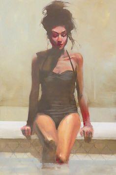 "Michael Carson - ""Lower"" (2014). Oil on panel."