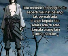 Naruto Shippuden Characters, Naruto Uzumaki Shippuden, Sasuke Uchiha, Anime Naruto, Boruto, Anime Motivational Quotes, Sad Quotes, Best Qoutes, Quotes Indonesia