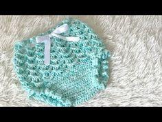 Calcinha Crochê Laurinha - YouTube Baby Girl Crochet, Crochet Baby Shoes, Crochet Baby Clothes, Crochet For Kids, Kids Knitting Patterns, Baby Knitting, Crochet Patterns, Crochet Case, Knit Crochet
