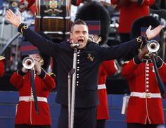 Robbie Williams at Jubilee concert. June 2, 2012.