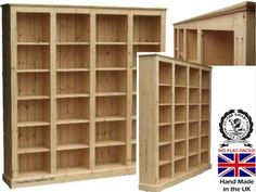 Pine Bookcase Bookcases Pastor Solid Wood Heartland Shelving Colours Shelves Libraries