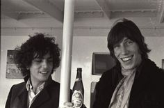 Syd Barrett & Roger Waters - Barrett moved to London in 1962 to study at the Camberwell College of Arts. Waters and Barrett were childhood friends; Waters had frequently visited Barrett and watched him play guitar at Barrett's mother's house