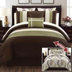 Hudson Green 12 Piece Comforter Set