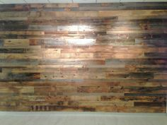 Pinner said: We made this blank wall into an amazing focal point.  We used reclaimed barn wood planks to create this look.  You can do this anywhere in your home or business too.  Take a look at our website for other interesting design ideas.   http://www.realantiquewood.com