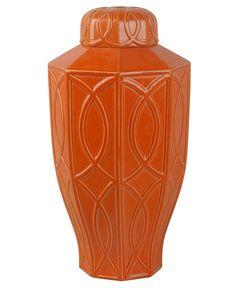 Treillage Large Ginger Jar - Orange | Scenario Home