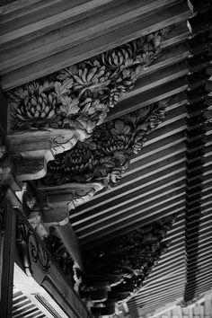 Rooftop details of  Kannamiji, Gifu, Japan
