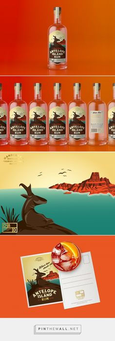 Antelope Island Rum - Packaging of the World - Creative Package Design Gallery - http://www.packagingoftheworld.com/2017/03/antelope-island-rum.html