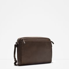 ZARA - COLLECTION AW15 - MESSENGER BAG WITH DOUBLE ZIP