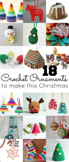 DIY 18 Crochet Christmas Ornaments Patterns from My Poppet.   At the link, the post is broken down into 2 categories: pay and free patterns.