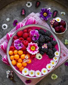 Cherry Smoothie, Pink Tulips, Food Coloring, Cherry Blossom, Acai Bowl, Berlin, Colorful Food, Breakfast, Instagram