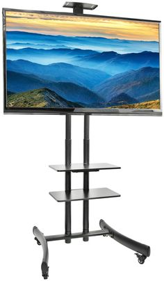 """VIVO TV Cart for LCD LED Flat Screen Mount Stand w/ Mobile Wheels fits 30"""" - 70"""" #VIVO"""