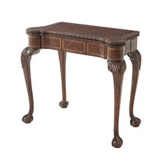 George III Ball and Claw Foot Game Table – English Georgian America