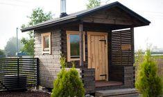 Pihasauna - Hirsisauna löylyvalmiina pihaan kuljetettuna - Salvos Outdoor Sauna, Outdoor Decor, Sauna Ideas, Sauna Room, Saunas, Blue Ridge, Tiny Houses, Modern Farmhouse, Grid