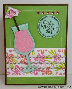 Cricut Girl's Night Out Invite. Pack your Bags Cartridge.  *