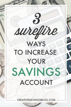 Having a healthy savings is essential to your financial well-being! Here are 3 surefire ways to increase your savings account so you can afford the things that matter most, and be prepared for what lies ahead. Ways To Save Money, Money Tips, Money Saving Tips, Budgeting Finances, Budgeting Tips, Managing Your Money, Financial Tips, Financial Planning, Frugal Tips