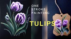How to paint Tulips One stroke acrylic painting is the easiest way to share your talent. Tulip Drawing, Tulip Painting, Flower Painting Canvas, One Stroke Painting, Painting Videos, Painting Lessons, Easy Paintings, Fabric Painting, Watercolor Paintings