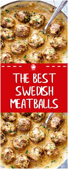 The Best Swedish Meatballs – Page 2 – Home Family Recipes - Fleisch Swedish Meatballs Crockpot, Swedish Meatball Recipes, Crock Pot Meatballs, Swedish Recipes, Slow Cooker Sweedish Meatballs, Recipes Using Meatballs, Meatball Meals, Cooking Meatballs, Best Meatballs