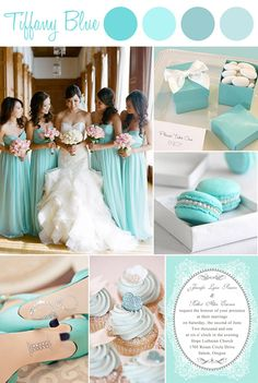 Tiffany Blue Inspired Wedding Color Ideas and Vintage Wedding Invitations