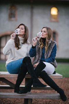 Vineyards & Spas, Napa - The Londoner Spas, Fall Winter Outfits, Autumn Winter Fashion, Napa Valley Style, Wine Tasting Outfit, Outfit Invierno, Branding, Gal Meets Glam, Winter Looks