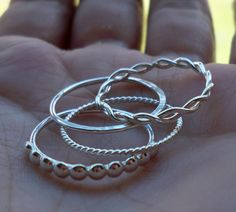 Set of 4 Sterling Silver Stacking Rings by HomegrownSilverStone